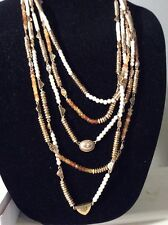 $79 Lucky Brand  Caseline Gold  Tone Long Multi Layer  Necklace  375a