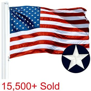 G128 – American Flag US USA | 3'x5' ft | EMBROIDERED Stars, Sewn Stripes