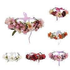 Mode Damen Blumen Hochzeit Stirnband Kranz Haarband Garland Beach Haarschmuck
