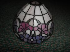 Vintage SIGNED DALE TIFFANY INC. Stained Glass Floral Lamp Shade