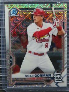 2021 Bowman Chrome Mega Box Nolan Gorman Prospect #90 Cardinals Y194