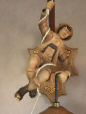 old wall laml light sconce Black Forest Wood Carving Lantern Folk Art country