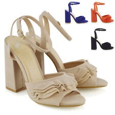 Womens High Heel Ankle Strap Sandals Ladies Peep Toe Party Prom Shoes Size 3-8