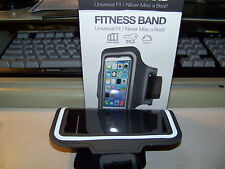 FITNESS BAND Universal Fit  (GRAY) for iPhone 5S, 5C, 5,4S, 4 AND IPOD TOUCH