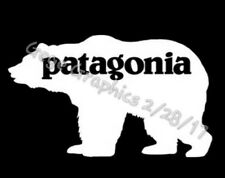 "Patagonia Bear Grizzly Decal Sticker Black or White 8"" Inches Wide"