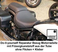 Motorrad Sitzbank Sitz Bezug Kunstleder Schwarz Reparatur Set