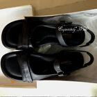 Easy-Spirit-Esnotetaker-Black-Leather-2-Strap-Women-Sandals-Shoes-7
