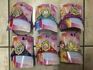 Case of 6 Disney Princess Tiaras Light Up Gem Costume Birthday Party NEW!