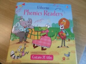 USBORNE PHONICS READERS 20 BOOK SET GOOD CONDITION FREE UK POST