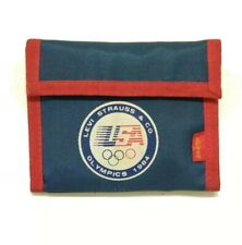 Levi Strauss And Co Vintage 1984 Los Angeles Olympics Wallet Blue Red White H2