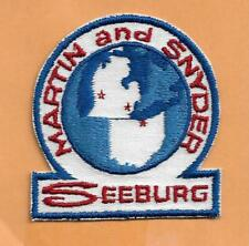 MARTIN AND SNYDER SEEBURG ADVERTISING PATCH 3""