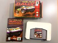 Top Gear Rally N64 Complete in Box CIB Tested Working! Nintendo 64 Game