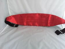 <Deal> Page Boy-BOYS Shiny Red Polyester Children Cummerbund + FREE Pocket Hanky