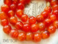VINTAGE REAL CARNELIAN RED AGATE BEADS NECKLACE SPIRITUAL HEALING SPECIAL GIFT