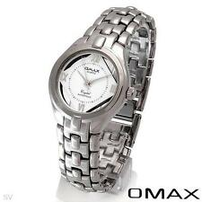 OMAX QUARTZ WATCH / Fully See-Through Dial / SILVER TONE ST/SL BRACELET.