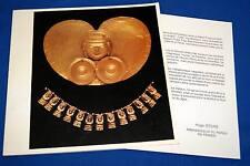 ART TRESORS DES ANDES PEROU COLOMBIE EQUATEUR CATALOGUE EXPOSITION 1988 ILLUSTRE