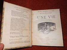 Une vie di G. De Maupassant illustrations de A. Leroux 1906 L1