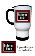 Burlington Route 14oz Stainless Steel Railroad Travel Mug A-Trains