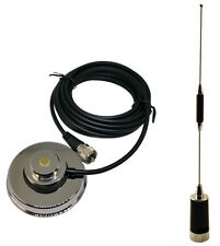Tram 1180 Amateur Dual-Band Antenna VHF 114-148, UHF 430-450 MHz & Tram 1232