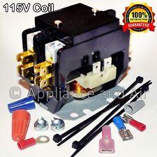 Spa Hot Tub Contactor 115V coil - Double Pole 240V/50A Heavy Duty + instructions