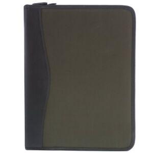 Cobb & Co River Leather & Canvas Zip Around Document Sleeve  Cobb&Co