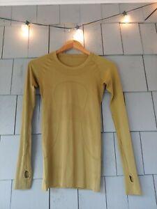 Lululemon Womens Top Green Run Swiftly Tech Solid Long Sleeve Shirt 4