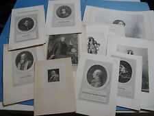 LOT 18 PORTRAITS PERSONALITES 1774-1860 DUCIS CORDAY TOURVILLE DESCARTES L.14