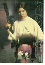 "STAR WARS-PRINCESS LEIA WITH GUN-4""X6""-2002-STARS WARS ON CARD (SWARS-163*)"