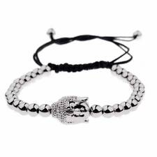 Fashion Gold-Plated Buddha Head Micro Zircon Beads Braiding Bracelet