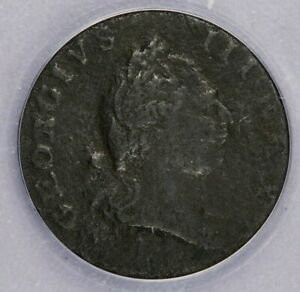 1773 1/2p Virginia No Period ANACS VF20 Details Corroded