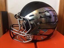 Oregon Ducks Football Game Used Black and Silver Helmet Wings