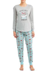 Secret Treasures 2Piece Womens Jogger Pajama Set (S) Dachshund SnowGlobe Penguin