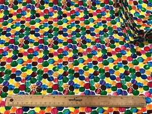 *Remnant - 65cm x 110cm* -The Very Hungry Caterpillar Abstract Dots Woven Cotton