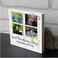 Personalised Partner Valentines Gift Shabby Chic Decor Wooden Photo Block