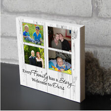Personalised Every Family Partner Wooden Picture Plaque Photo Block Present Gift