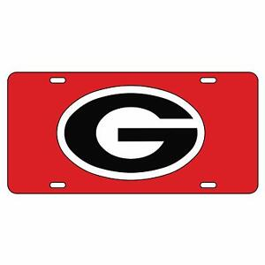 University of Georgia Acrylic Tags with Reflective Decals