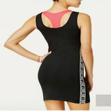Material Girl Active S Small Black Tank Dress Attached Pink Sports Bra NEW $39