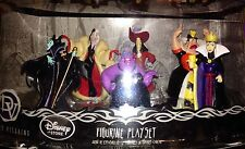 NWT DISNEY VILLAINS DELUXE FIGURINE PLAY SET CAKE TOPPER 6-PC SET *L@@K* LAST 1