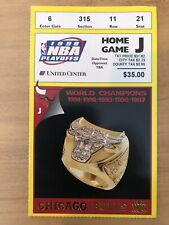 1998 CHICAGO BULLS GAME 7 NBA EASTERN CONFERENCE FINALS TICKET STUB PACERS