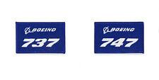 Original Boeing Patches / Aufnäher Boeing 737 747 767 777 787 blau NEU 9.5 x 6cm