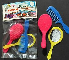 Paquete Original Años 70 Hecho En Hong Kong Muñeca Juego De Cepillo