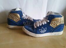Special Edition Adidas Original Sleek Series Bright Blue High Tops - Size 4