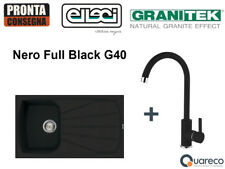Lavello Incasso Elleci Living 1 Vasca e Miscelatore LGL40040C01 86x50 Nero G40