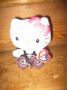 HELLO KITTY  NEW DUPLICATE GIFT SANRIO TY BEANY COLLECTION SOFT CAT PLAY FIGURE