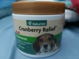 NaturVet Cranberry Relief for Dogs & Cats UTI Urinary Tract Infection 50 Gram