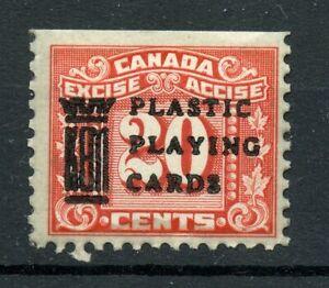 Weeda Canada FX77b Mint 20c red 3-Leaf Excise Tax revenue, KEM overprint CV $175