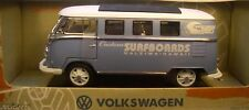 GREENLIGHT 1:18 SCALE DIECAST METAL BLUE & WHITE 1962 VOLKSWAGEN RETRO MICROBUS
