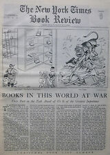 WORLD AT WAR BOOKS - NAZI LIBRARY CULTURE - MEIN KAMPF December 6 1942 NY Times