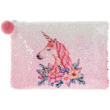 Réversible Sequin Licorne Rose Porte-Monnaie Filles Sac à Main Pochette