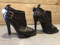 Alexander Mcqueen Biker Ankle Boots Size UK 3, EU 36 RRP £880 Now £159.90
